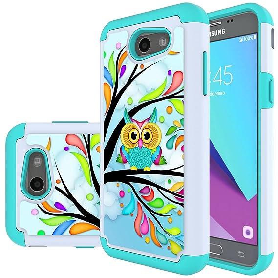 quality design c16d9 bd83f Samsung Galaxy J3 Mission / J3 Eclipse / J3 Emerge / J3 Prime / J3 Luna Pro  / Sol 2 / Amp Prime 2 / Express Prime 2 Case, MicroP Hybrid Dual Layer ...
