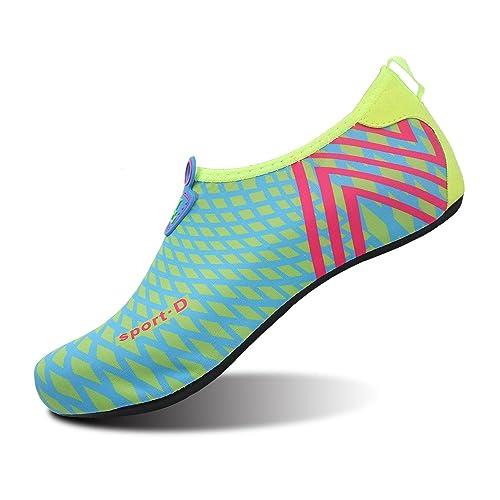rivenditore online autorizzazione quantità limitata L-RUN Scarpe Acqua Unisex Scarpe a Pelle a Piedi Nudi per la Corsa Dive  Surf Swim Beach Yoga