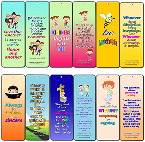 Favorite Bible Verses for Kids Improve Behavior 30 Pack Handy Memory Verses for Kids Perfect for Children s Ministries and Sunday Schools
