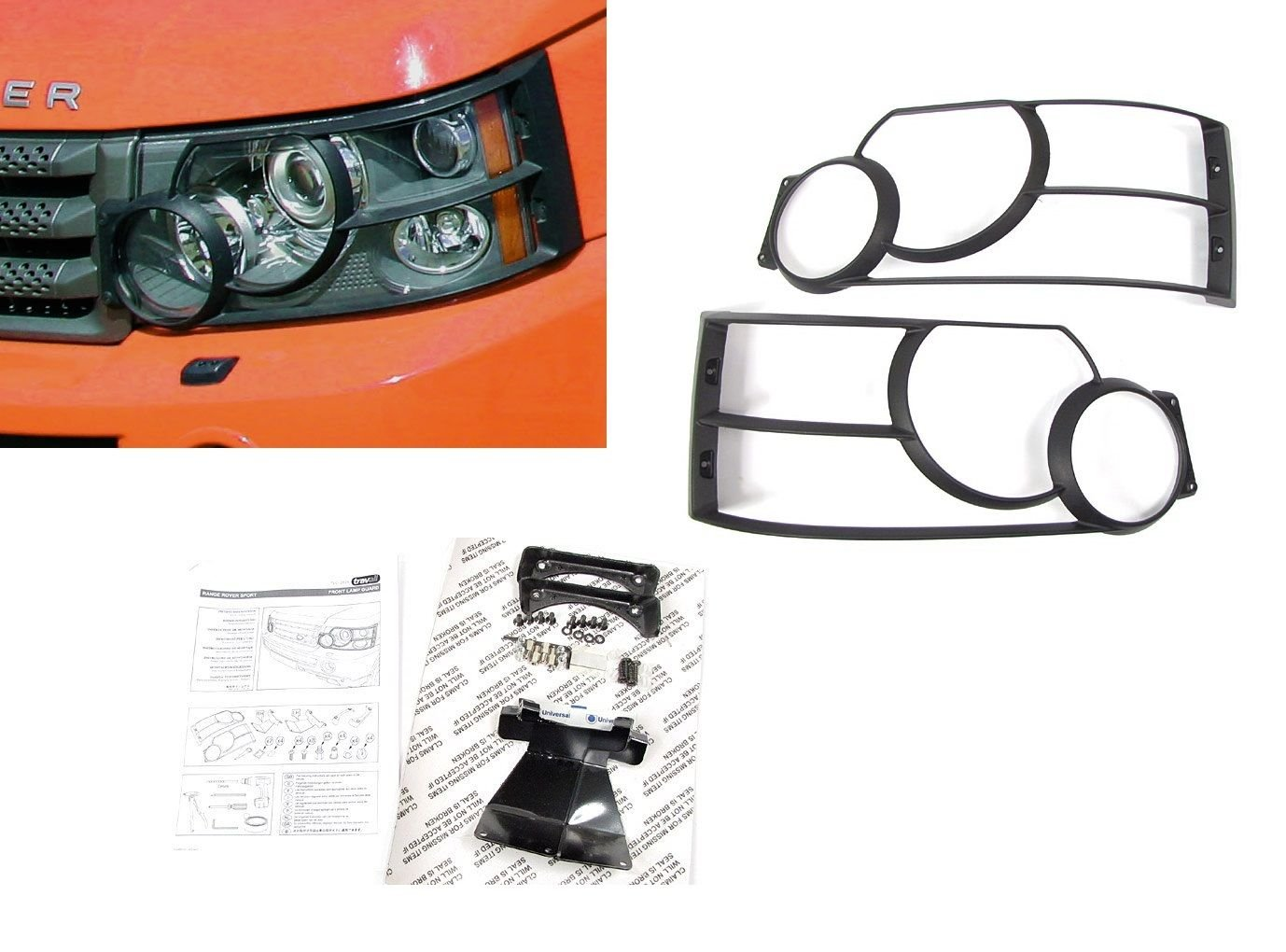 LAND ROVER RANGE ROVER SPORT L320 2005-2009 FRONT LIGHT GUARD SET PART: VUB501930