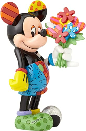 Romero Britto Mickey Mouse with Flowers