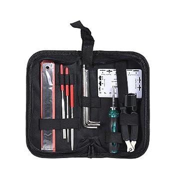 Kit de reparación de guitarra, kit de mantenimiento y reparación (bolsa de tela)