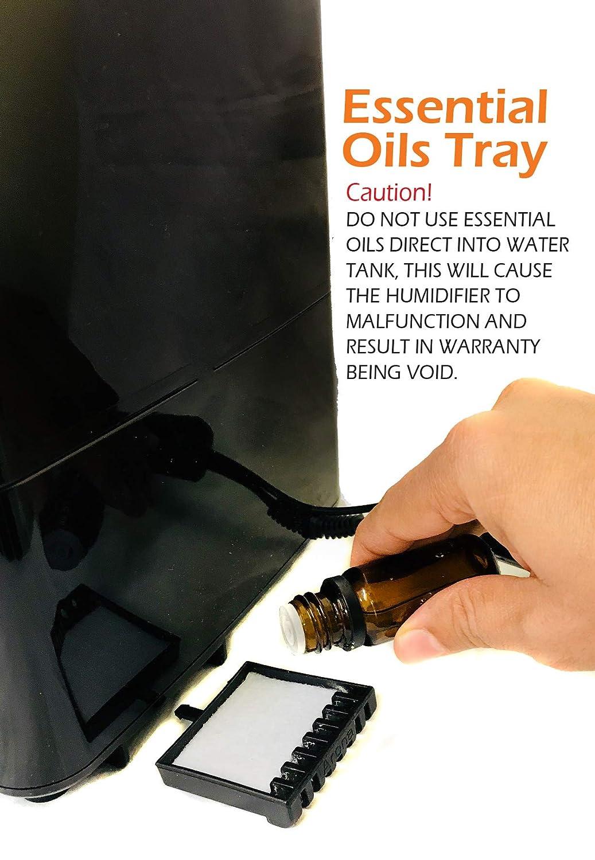 PureMate/® PM 908 Humidificador Digital Ultras/ónico de Vapor Fr/ío e Ionizador Con difusor de aroma Capacidad de agua de 4.5 litros
