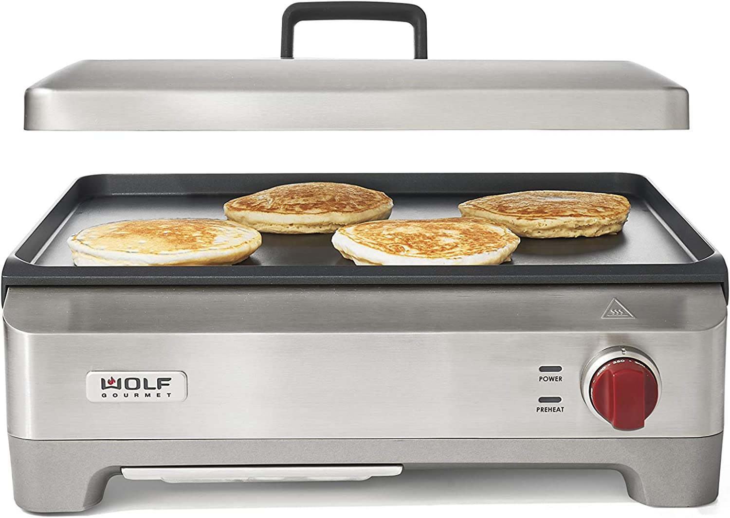 Wolf Gourmet WGGR100S Precision Electric Griddle, Flat Top Countertop Indoor