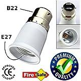 ascension Plastic B22-E27 Screw Base Socket Lamp Holder Light Bulb Converter Adapter