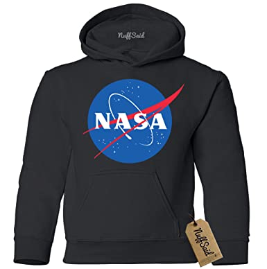 2ec7a57dc NuffSaid Youth NASA Meatball Logo Worm Hooded Sweatshirt Sweater Pullover - Unisex  Hoodie (YL: