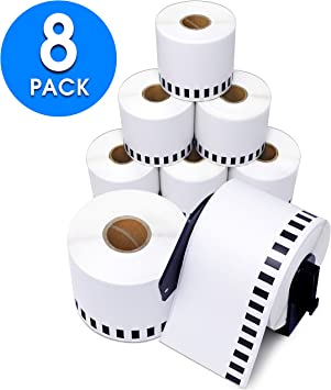 2 Reusable Cartridge 8 Rolls DK-2205 Brother Compatible Continuous Thermal Label