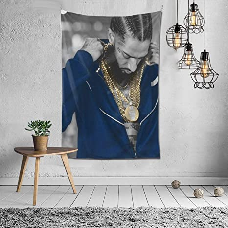 Amazon Com Nipsey Hussle Tapestry 3d Print Wall Blanket Wall Hanging Pop Art Home Decorations Bedding Decor For Bedroom Dorm 40x60 Inches Kitchen Dining
