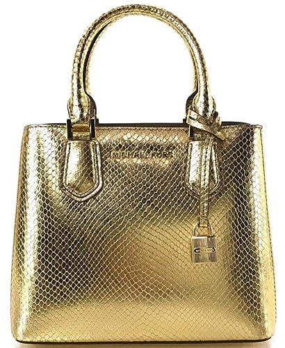 a8bf3d80220f Michael Kors petit sac à main et bandoulière Adele cuir gold 23x19x10cm neuf