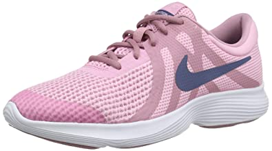 sports shoes 374b1 e7ccf Nike Revolution 4 (GS), Sneakers Basses Femme, Multicolore Diffused  BlueElemental