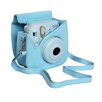 673debc090ca8c Fujifilm Case for Fuji Instax Mini 8 Camera, Blue  Amazon.co.uk ...