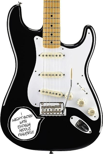 Pegatina para golpeador de instrumentos de guitarra, con texto en ...