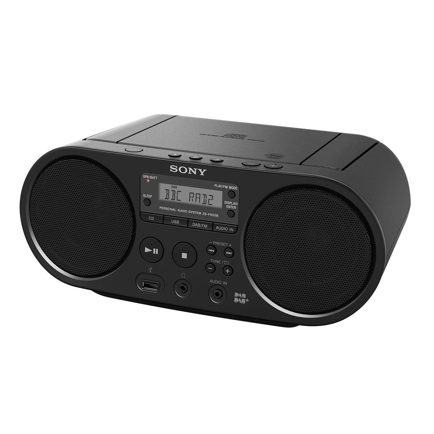 Fabriksnye Sony ZS-PS55B CD Boombox with DAB and FM Radio - Black: Amazon.co YI-61