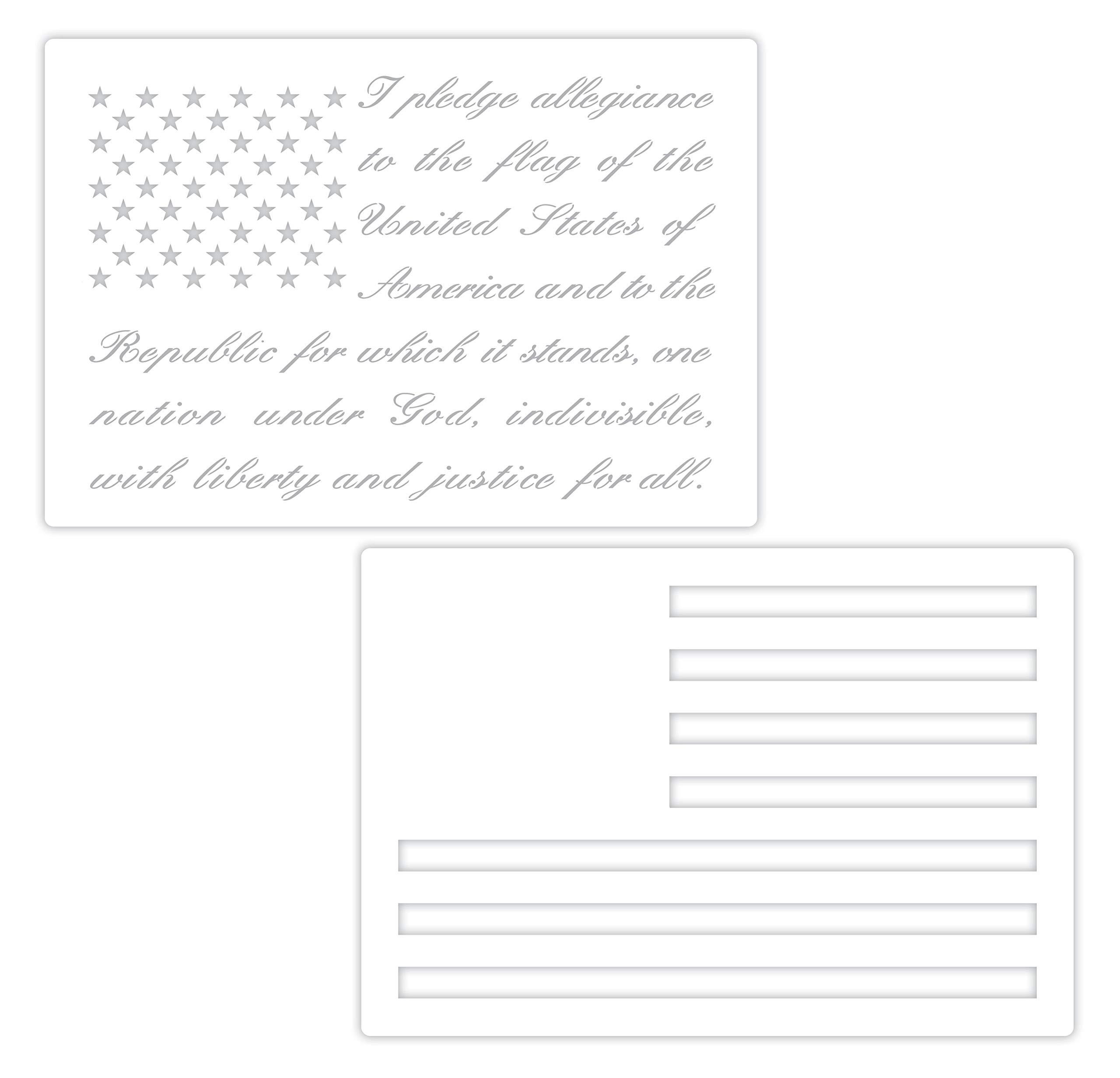 Pledge of Allegiance Flag Cake/Craft Stencil by Designer Stencils (Image #1)