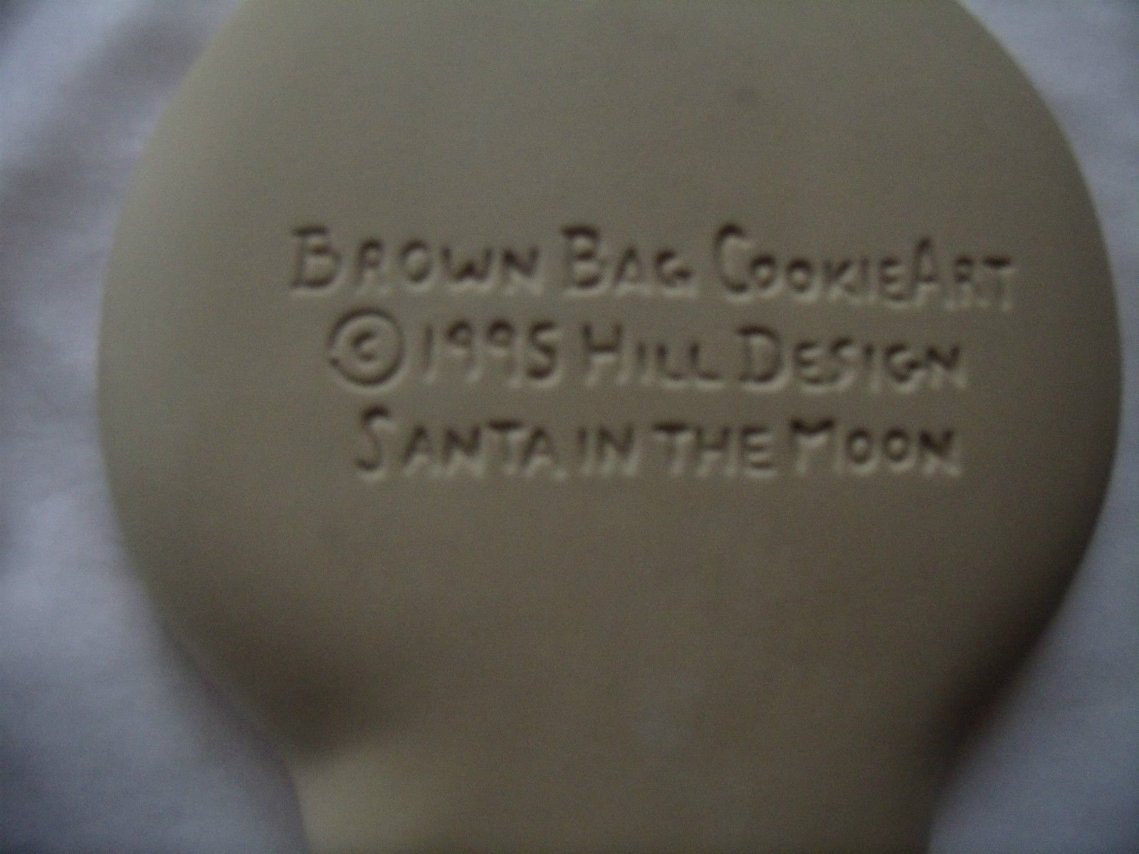 Brown Bag 1995 Santa in the Moon Cookie Mold - New - Recipe Booklet by brown bag (Image #1)