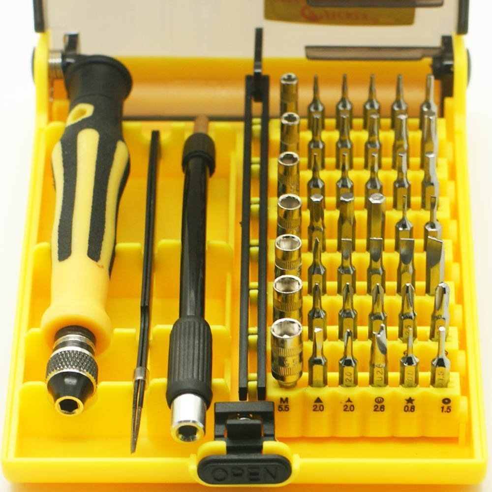 MMOBIEL JACKLY 45 in 1 Professional Portable Opening Tool Compact Precision Screwdriver Kit Set with Tweezer & 130 mm Extension Shaft for Precise Repair or Maintenance (6089 B)