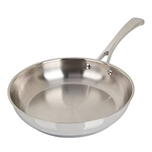 Oster Cuisine 89464.01 Derrick 9.5 Inch Stainless Steel Frying Pan, Silver