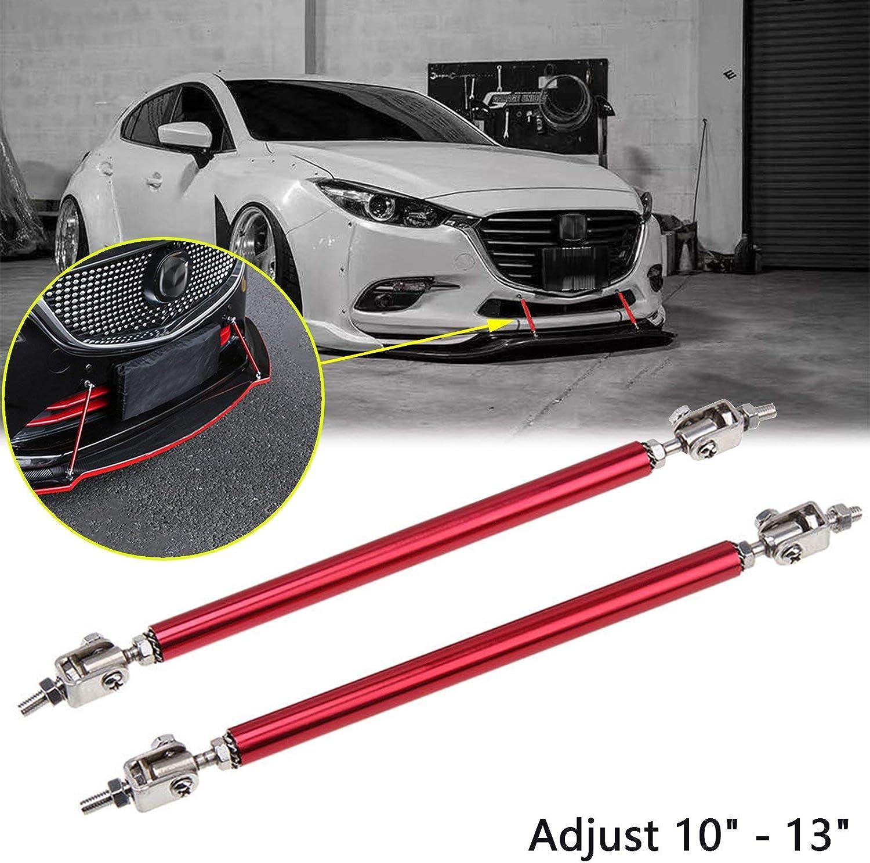 8-11 Front Lip Strut Rod Bumper Splitter Universal Tie Support Bars,Black 2PCS Adjustable Splitter Strut Rods