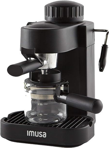 IMUSA USA GAU-18202 4cup Cappuccino Espresso/Cappuccion Maker, 4 Cup, Black