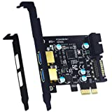 Mailiya PCI-E to USB 3.0 2-Port PCI Express Card,Mini PCI-E USB 3.0 Hub Controller Adapter with 15-Pin Power Connector and 1 USB 3.0 20-Pin Connector - Expand Another Two USB 3.0 Ports