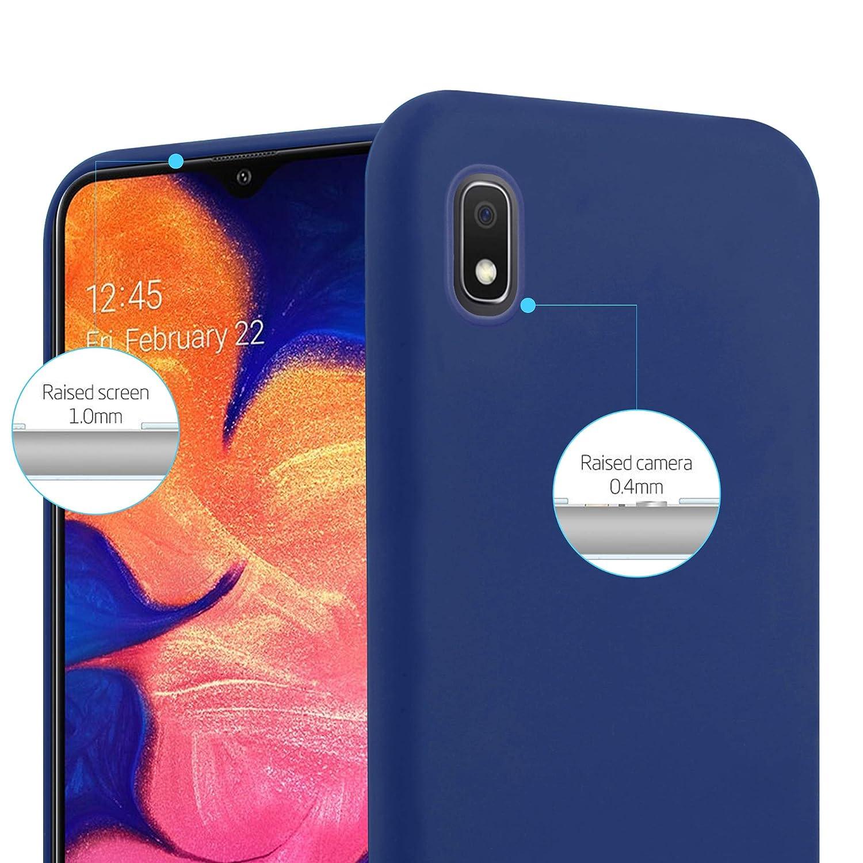 Cadorabo Coque pour Samsung Galaxy A10 en Candy Bleu FONC/É Housse Protection Souple en Silicone TPU avec Anti-Choc et Anti-Rayures Ultra Slim Fin Gel Case Cover Bumper