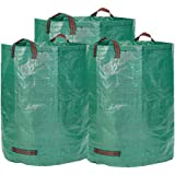 Garden Bags - 3x Foldable & Extra Strong Garden Waste Bags 272L- Huge Heavy Duty & Waterproof Rubbish Sacks With Tie Handles - T-tags for free (3Bags x 272L)