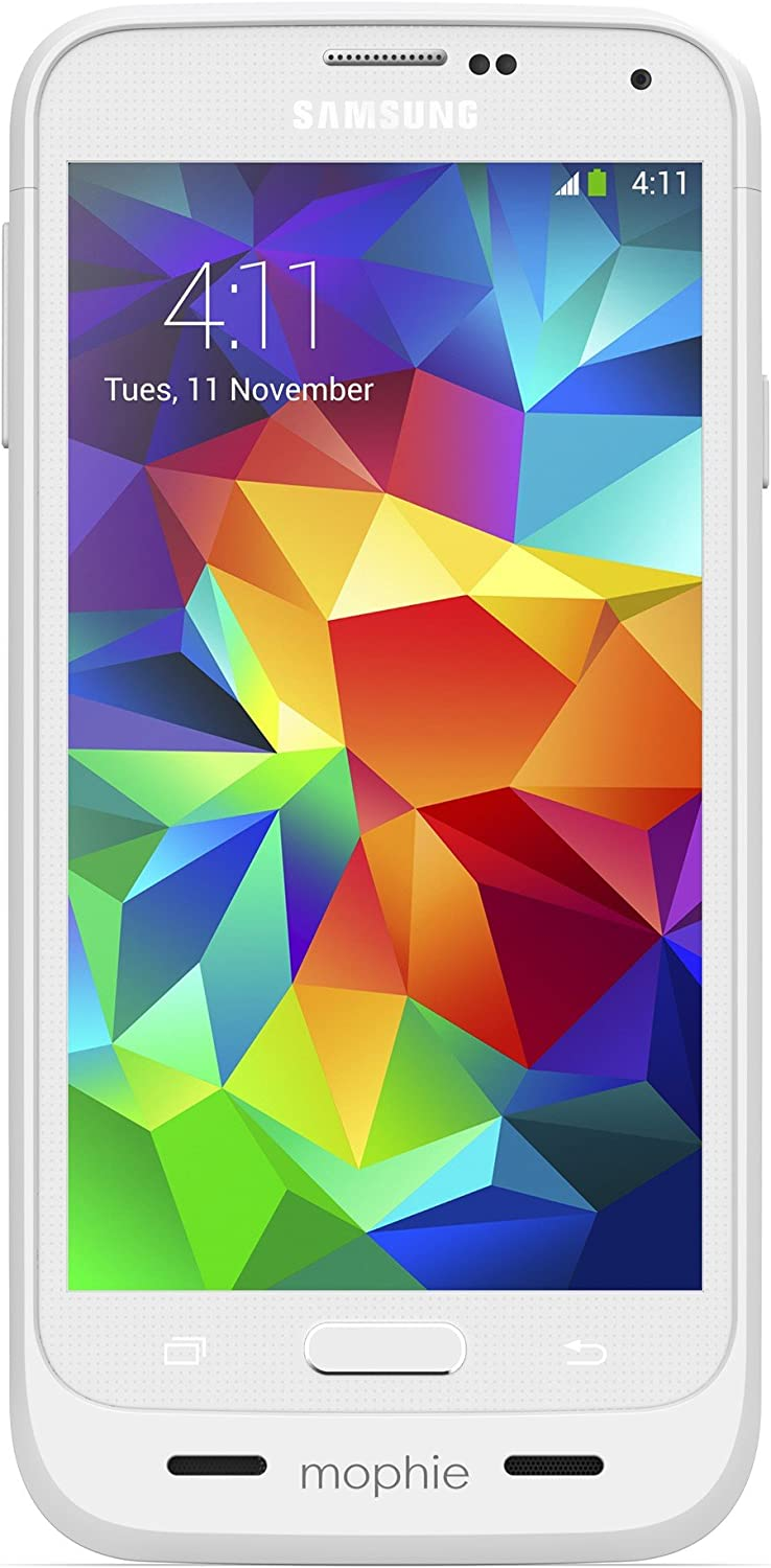 3,000mAh mophie Juice Pack for Samsung Galaxy S5 White