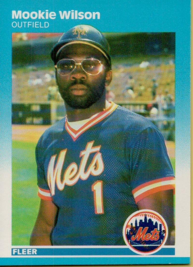 野球MLB 1987 Fleer # 25 Mookieウィルソンメッツ   B06XJ81VMP