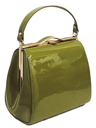 973dac99c964d New Ladies Vintage Inspired Retro 1940's 1950's Classic Framed Kelly Box Bag:  Rosa Rosa: Amazon.co.uk: Clothing