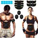 SPORTLIMIT Abs Stimulator, Wireless Portable Fitness Workout Equipment for Men Woman Abdomen/Arm/Leg Home Office Exercise,10p