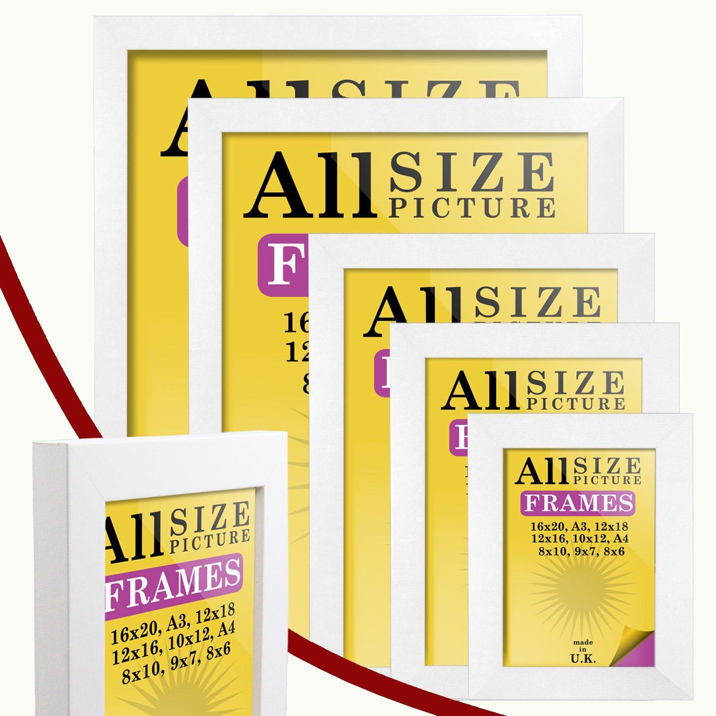 Amazon.de: Bilderrahmen weiß Farbe dick Box MDF - verschiedene ...