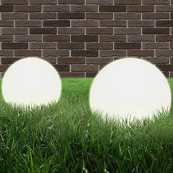 luckyfu Juego 2 lámparas de jardín a bola E27 25 cm (pmma. lámparas solares de jardín lámparas solares jardín exterior Lámparas Solares Exterior Lámpara de jardín lámpara exterior: Amazon.es: Iluminación
