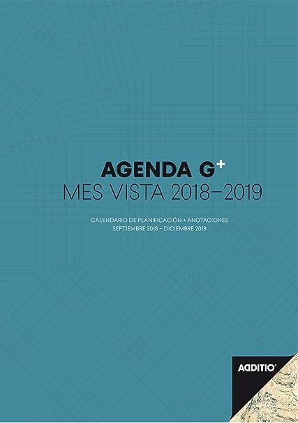 Additio P182-P - Agenda G Plus 2018-19, mes vista más anotaciones