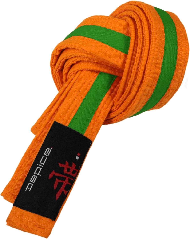 Arancione//Verde Colore Cintura da Arti Marziali DEPICE