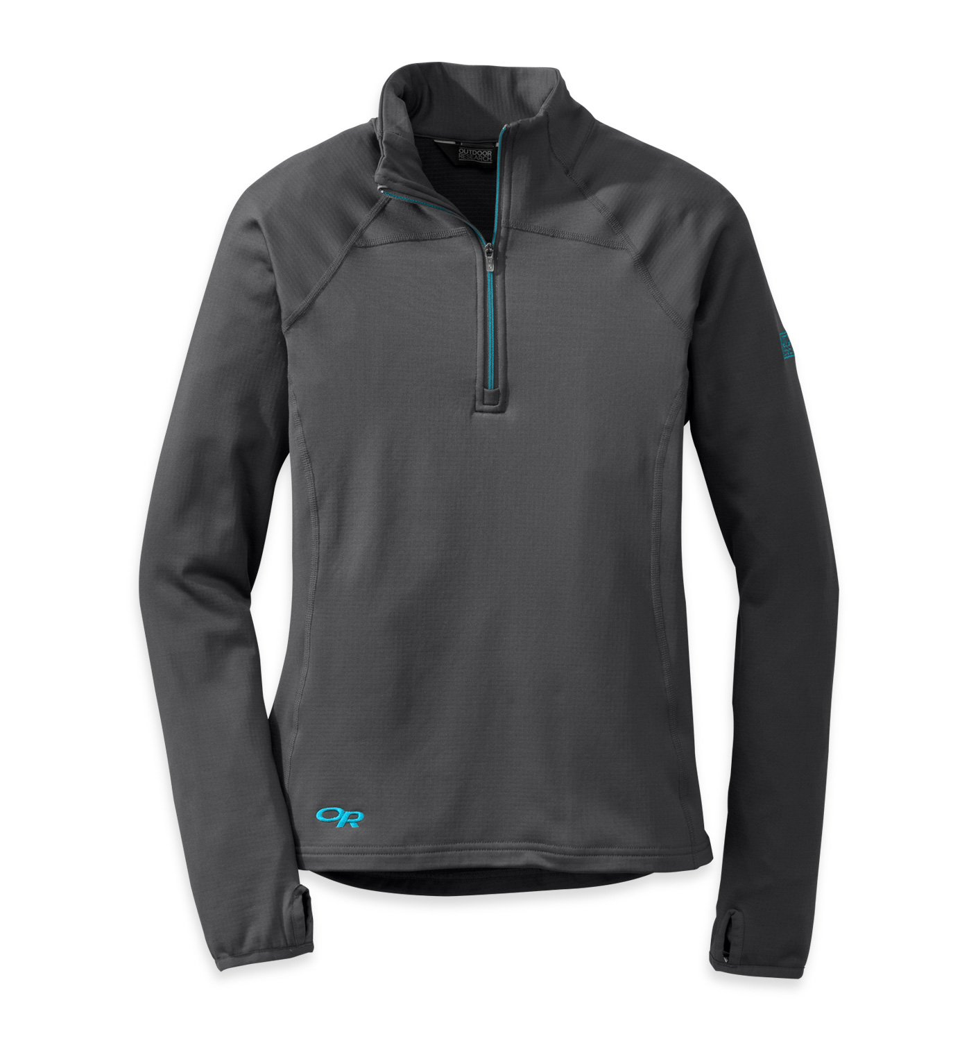 Outdoor Research Women's Radiant LT Zip Top, Charcoal/Rio, Small by Outdoor Research