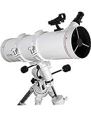 EXPLORE FIRSTLIGHT Telescope- 130mm White Tube Newtonian with 600mm Focal Length f/4.6 Telescope with EXOS Nano EQ3 German Equatorial Mount - FL-N130600EQ3
