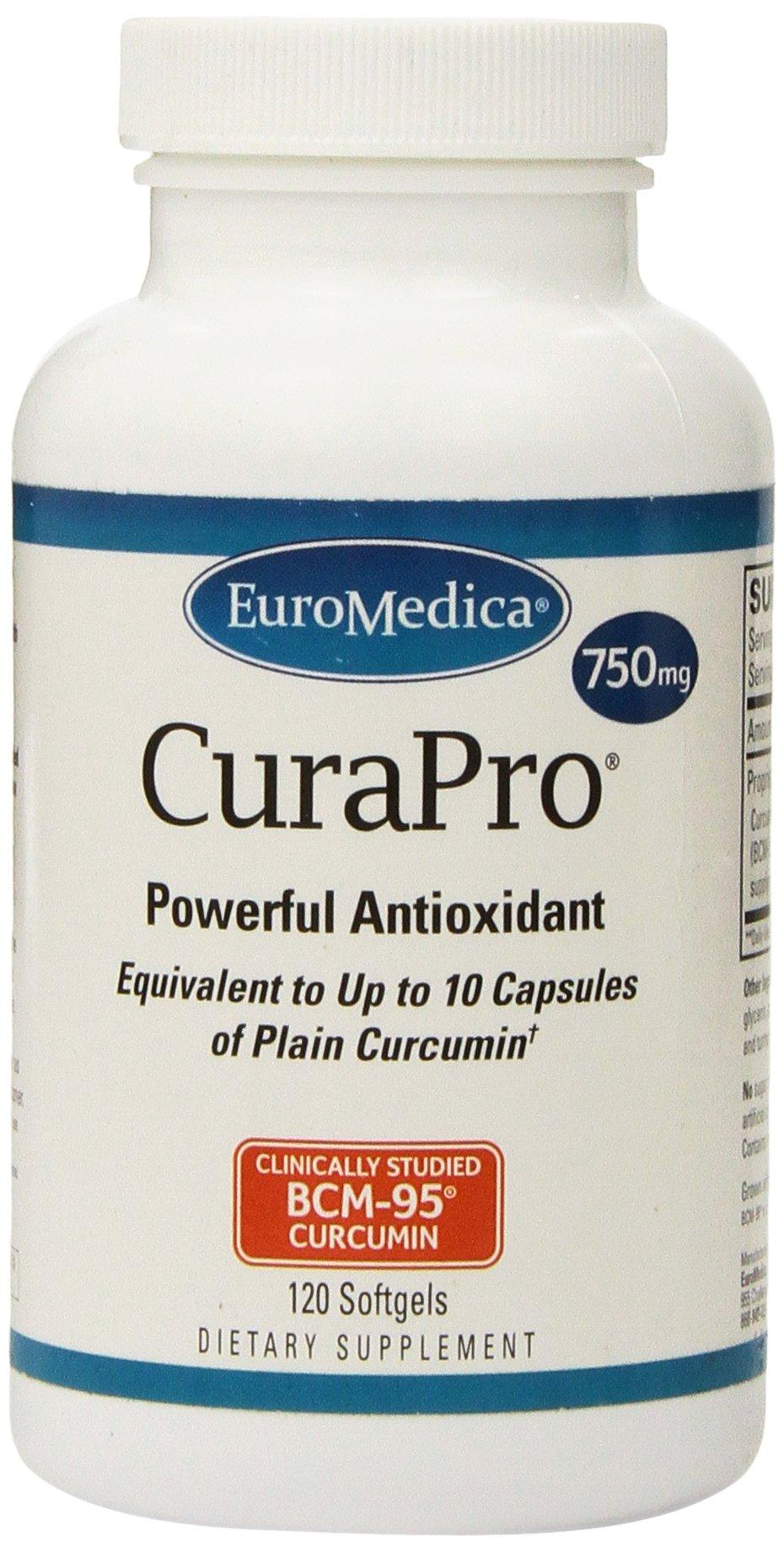 EuroMedica - CuraPro 750 mg 120 softgels [Health and Beauty]