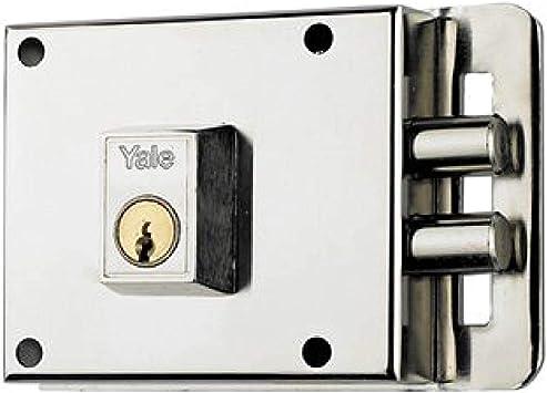 Yale 6010DHN Cerradura de Sobreponer, 6-0 Entrada 55 mm / Dcha Hierro Niquelado: Amazon.es: Bricolaje y herramientas
