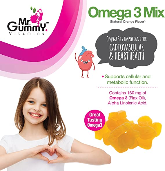 Amazon.com: Mr. Gummy infantil Omega-3 Mix diario ...