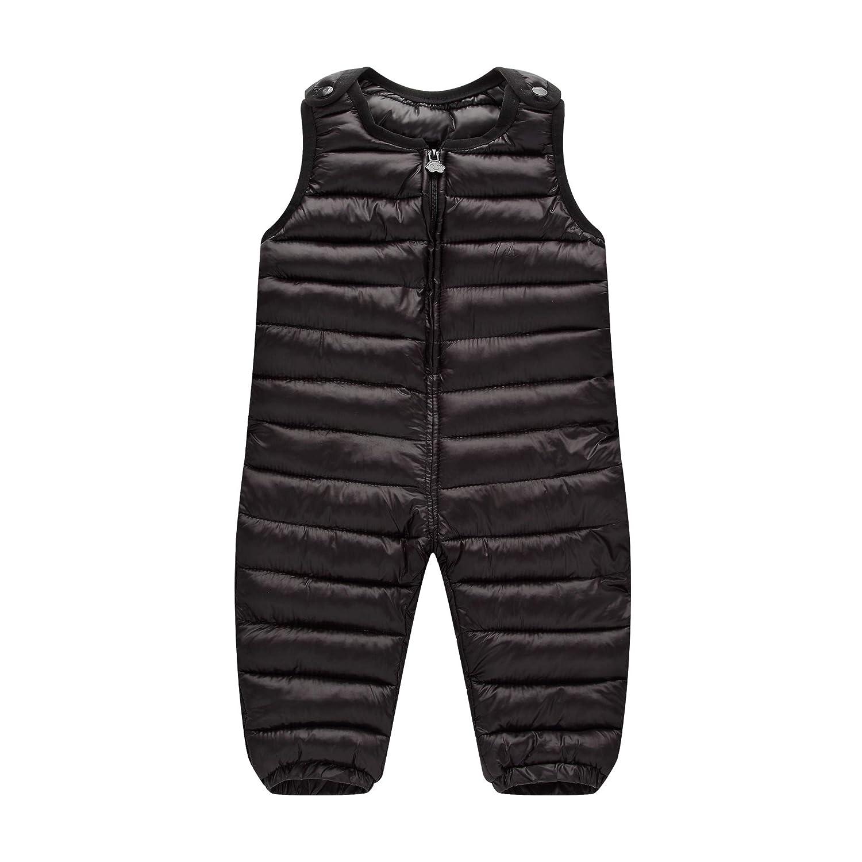 MissChild Pantaloni di Neve per Ragazzi Ragazze Tute da Neve Bambini Inverno Caldo Spesso Pantaloni con Bretelle