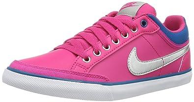 brand new 09bec c1d38 Nike Capri Iii Lth 579619-600 Damen niedrig Pink (Vivid Pink/Metallic Silver