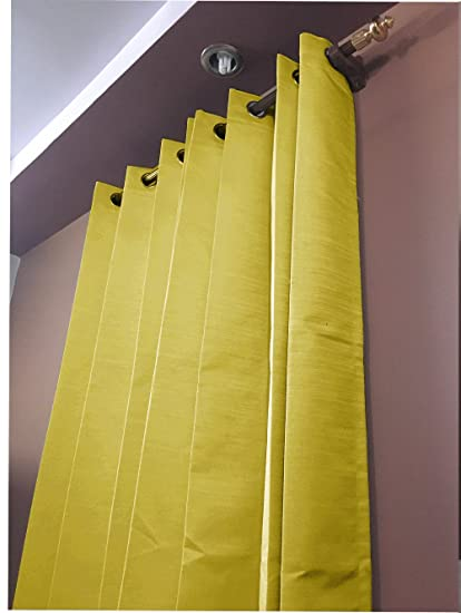 Dupioni Silk Blackout Curtains Gold 50 By 144 Inches