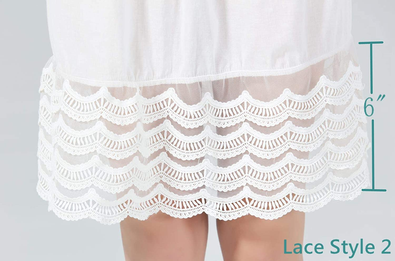 0743b9804719 Femme Jupon Dentelle Lingerie sous-Jupe Robe Coton Blanc Noir Ivoire Court  Mi-Long Agrandir l image