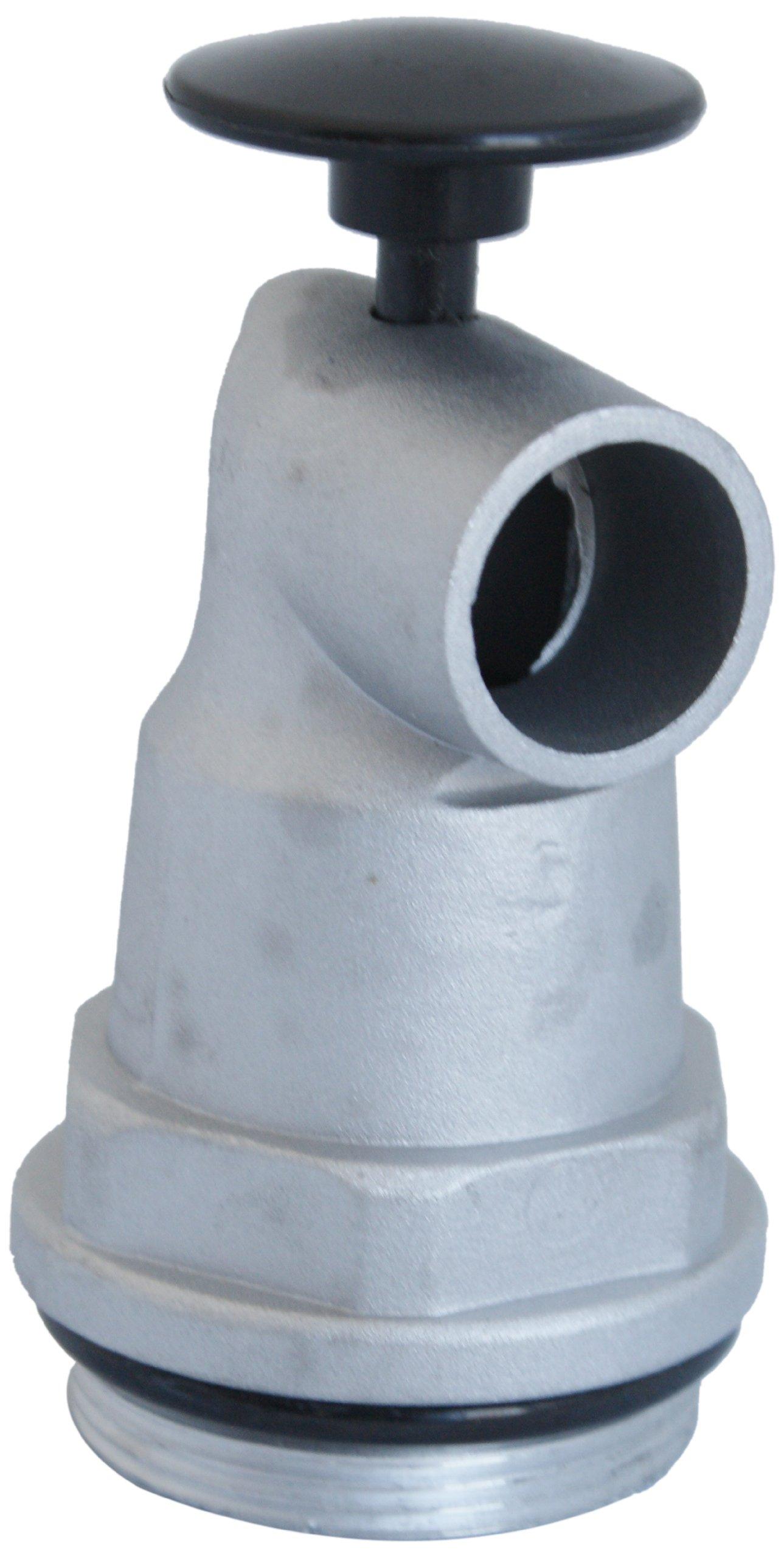 Action Pump 2GF Aluminum Drum Tap, Spring Loaded Push