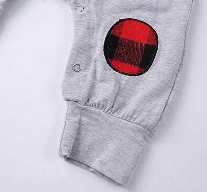 Ropa Bebe, Fossen ALL YOU NEED IS LOVE Cuadros Mono Pijamas de Mangas largas Peleles para Recien nacido Nina Nino: Amazon.es: Ropa y accesorios