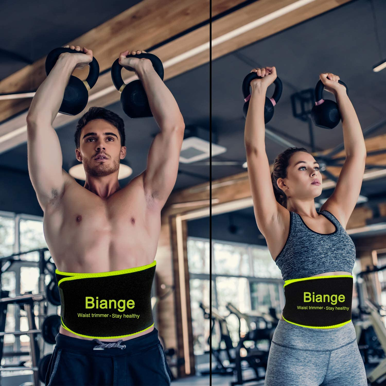 2 Pieces Waist Trimmer for Women Sweat Wrap Sweat Waist Trainer Sweat Tummy Workout Belt Stomach Wraps for Bodybuilding