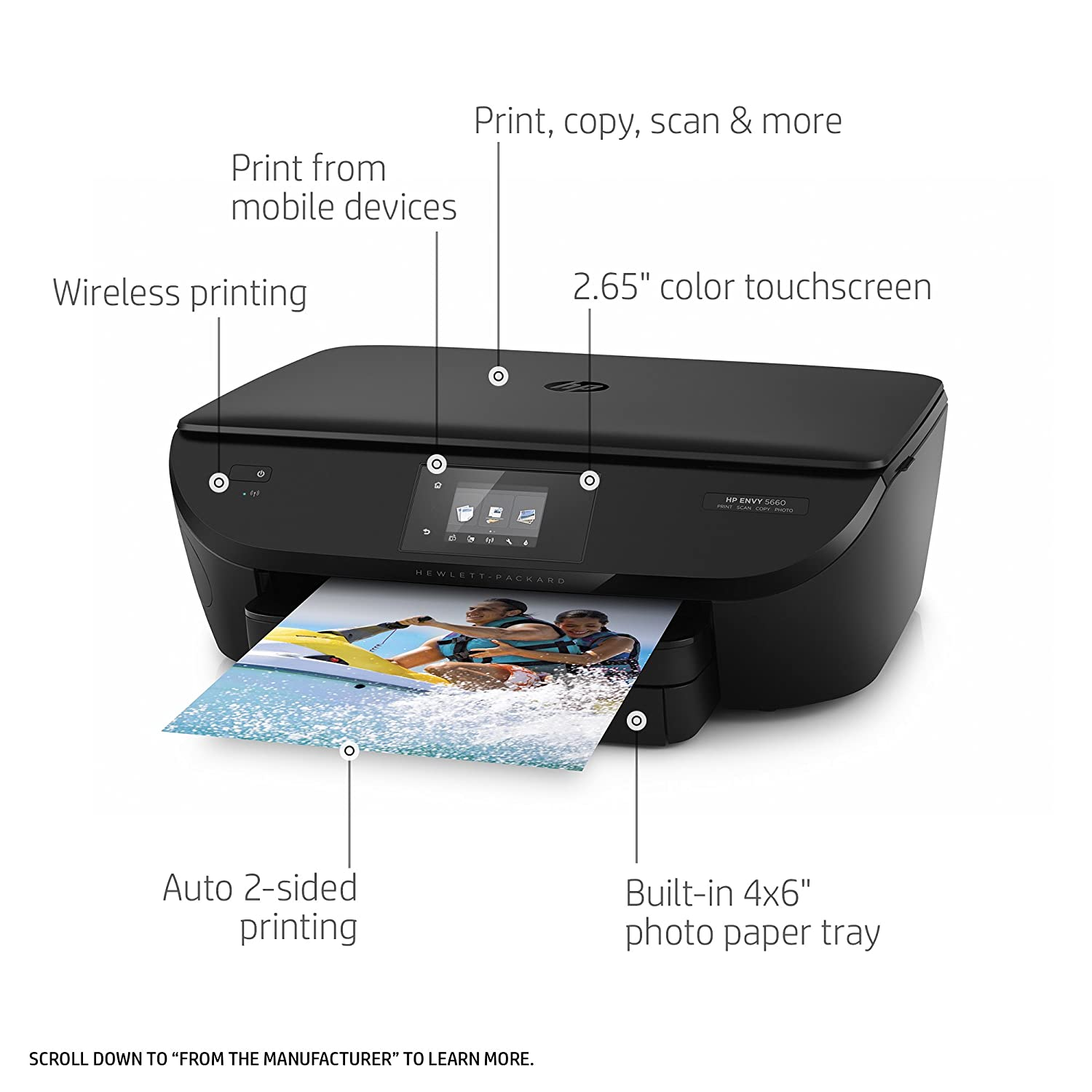 Hp Envy 5660 Wireless All In One Photo Printer With Mobile Printing Hp Instant Ink Amazon Dash Replenishment Ready F8b04a
