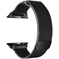 KYISGOS For Apple Watch Band 42mm 38mm, Strong Magnetic Milanese Loop Stainless Steel Replacement iWatch Strap for Apple Watch Series 3 2 1 Sport and Edition