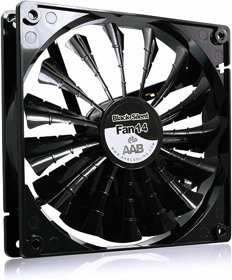 AAB Cooling Silent Fan 14 - Ventilador PC, Ventilador 12V Coche, Cooler - 104 m3/h, 1000 RPM, Negro: Amazon.es: Informática