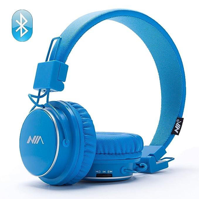 Auriculares inalámbricos Bluetooth, plegables, tarjeta TF, radio FM, entrada de audio con